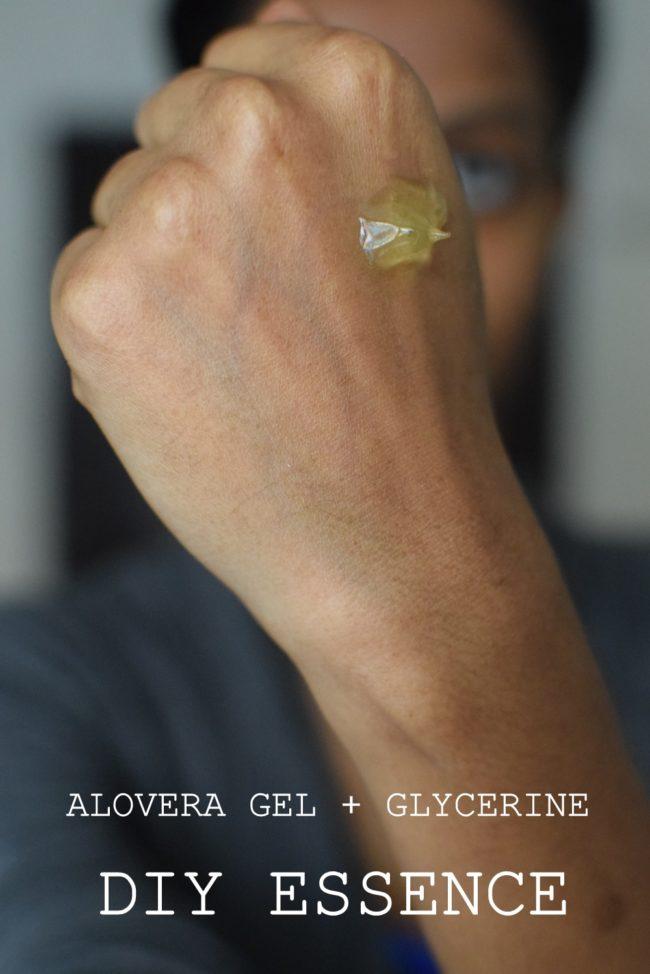 DIY aloevera + essence glycérine